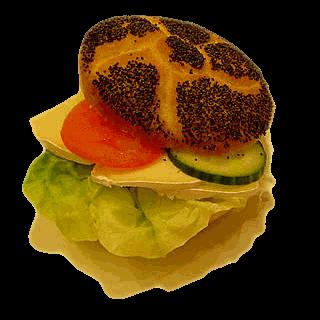 Brie-Mohnbrötchen