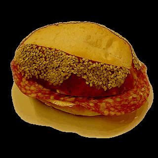 Salami Sesambrötchen